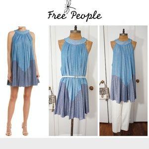 🔥HOST PICK💥Free People Pleated A-Line Mini Dress